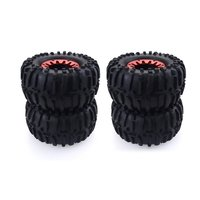 4PCS 1/10 RC Rubber Tyres Plastic Wheels for HPI Savage ZD Racing XS HSP LRP Redcat TRAXXAS 1/10 Monster Truck Crawler Car