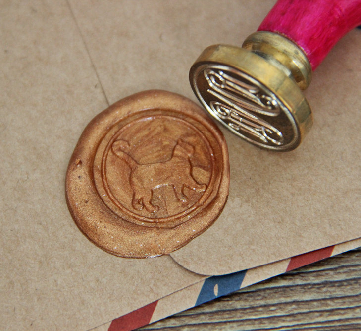 Open Me Wax Seal Stamp Message Words Sealing Wax Seal Wax Stamp