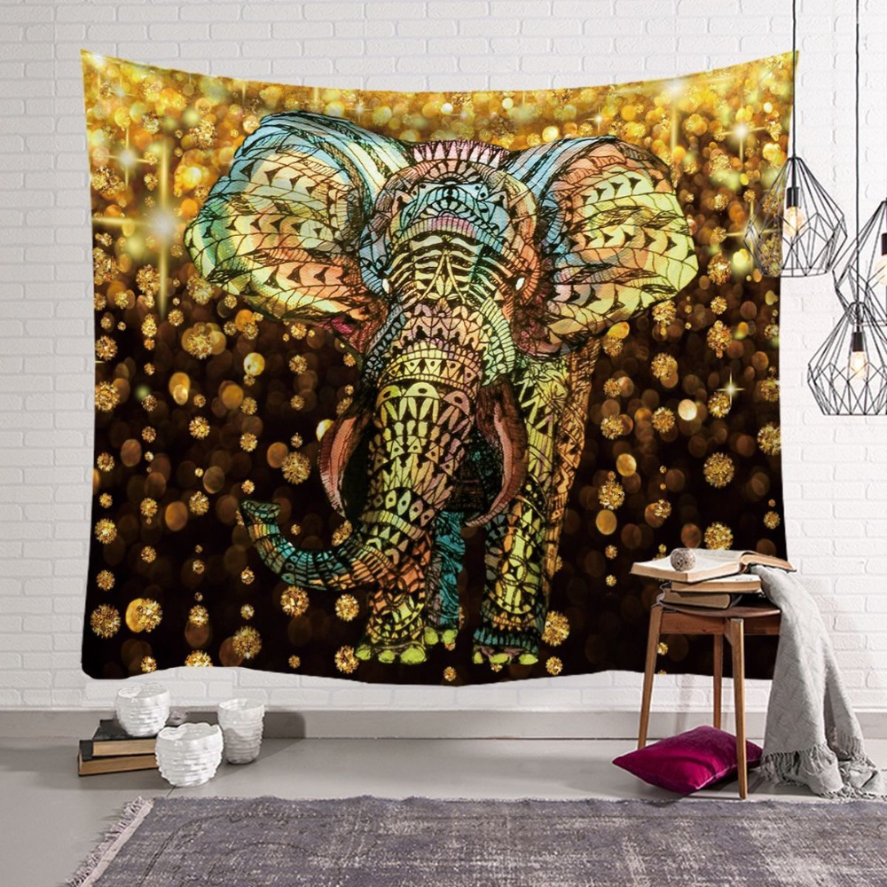 Home & Garden Witchcraft Tree Tapestry Wall Hanging Psychedelic Wall Tapestry Elephant Boho Decor Wall Cloth Tapestries Wall Carpet Throw Rugs
