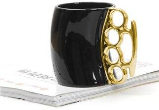 Las más creativas tazas de té y café con limones de Fred Friends, Odd Fist, tazas de cerámica, tazas boxeo a la moda, taza personalizada con puño