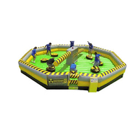 inflatable Fighting meltdown games inflatable wipeout course games