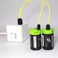 ZNTER 2ชิ้น/ล็อต1.5โวลต์ลิเธียมแบตเตอรี่li-polyme 6000มิลลิแอมป์ชั่วโมงUSB Dขนาดแบตเตอรี่แบบชาร์จไฟDประเภท...