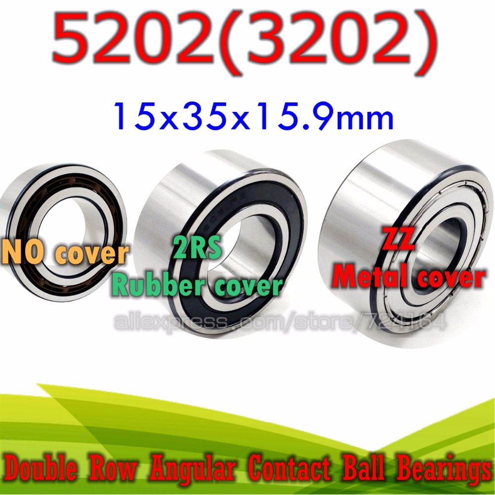 5202-2RS Angular Contact Ball Bearing 15x35x15.9 ID 15mm x OD 35mm x 15.9mm
