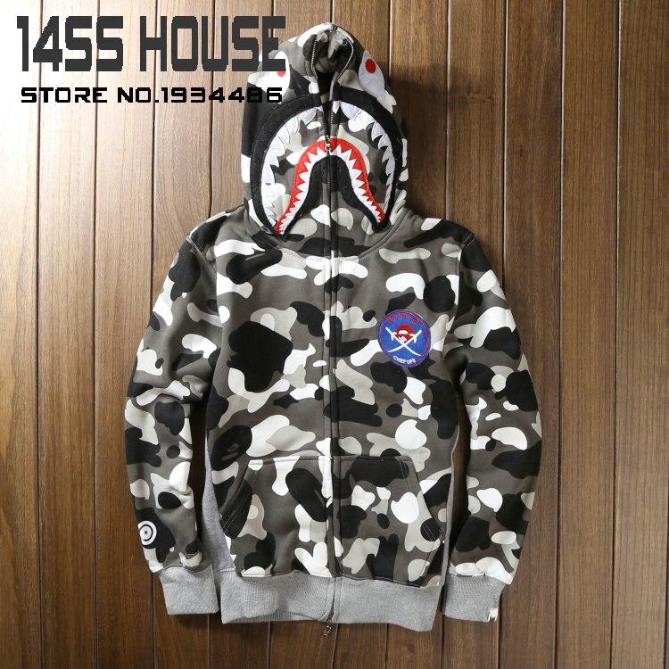 Bape shark hoodie men and women the night light fleece sweatshirt bape  camouflage jacket streetwear coat hoodies men harajuku 5a9427c61