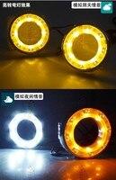 Free shipping ,New arrival , led drl daytime running light fog lamp for 2012 2013 TOYOTA RAV4 yellow turn light function