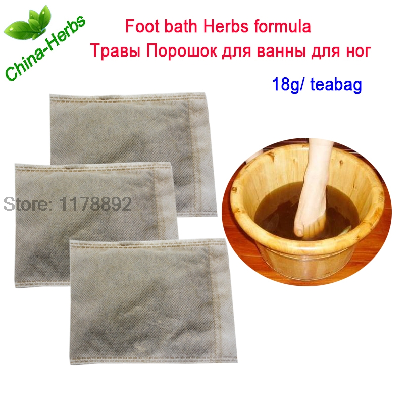 3Bags Herbal Footbath massageapparat Pulver fodbad Pulver-8567