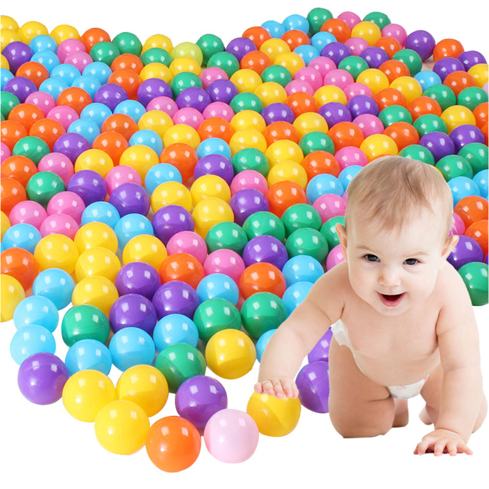 100Pcs 5 5cm EcoFriendly Colorful Soft Plastic Water Wave Ball Baby Funny Toys air ball font