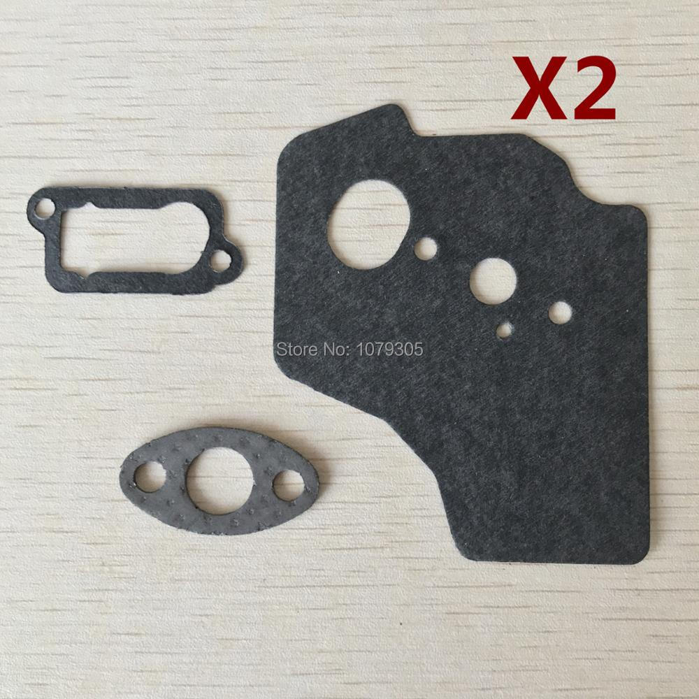 2 Sets 140/GX35 Brush Cutter Trimmer Repair Gasket Set