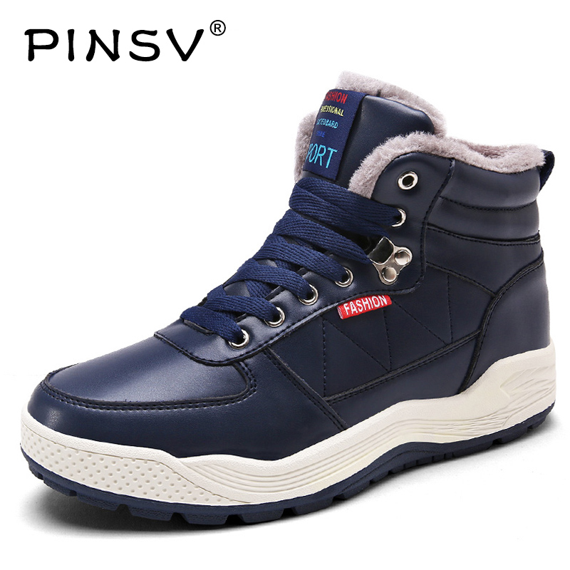 PINSV Winter Sneakers For Men Running Shoes For Men Masculino Krasovki Winter Sport Shoes Men With Fur Calzado Deportivo Hombre