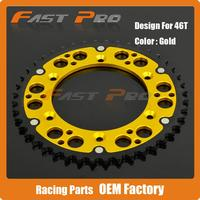 46T CNC Rear Chain Sprocket RS175 DR350 DRZ400 Supermoto Enduro Off Road Racing