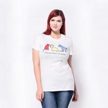 Kissmilk Plus Size 2018 White Casual Women T-Shirt Summer Cute Animal Print T-Shirt Short Sleeve Style O-Neck Female T-Shirt цена 2017