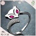 Muito Popular S925 Prata Pura Raposa Forma Anéis de Dedo Para A Menina ou Senhora ou Mulher
