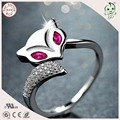 Very Popular S925 Pure Silver Fox Shape Toe Rings For Girl or Lady or Woman