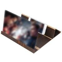 Stereoscopic Amplifying 12 Inch Desktop Wood Bracket Mobile Phone Video Screen Magnifier Amplifier Holder Mount