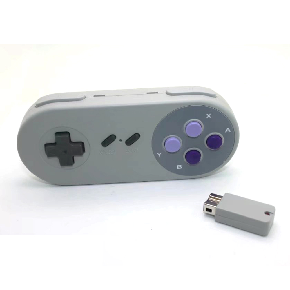 Wireless Button Style Gaming Controller for Super Nintendo classic edition Gamepad for SNES mini console