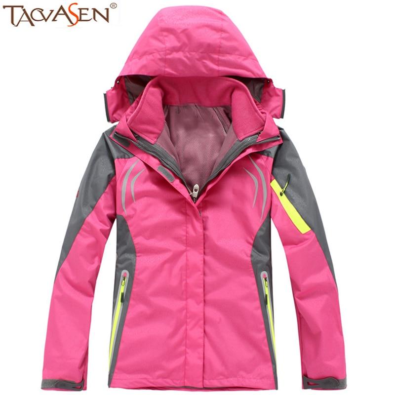 TACVASEN Hiking Softshell Jacket Women Waterproof Fleece Jacket Windproof Climbing Jacket Outdoor Heated Jacket With Pocket