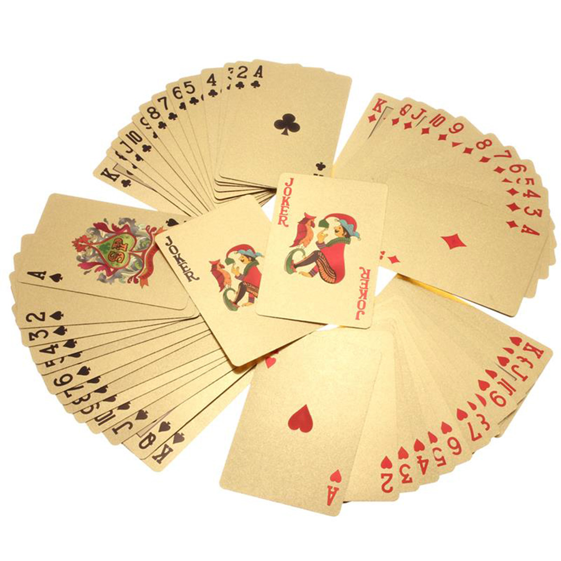 Hot Sell New High Grade 24K Gold Foil Poker Lattice Grid Pattern Playing Cards