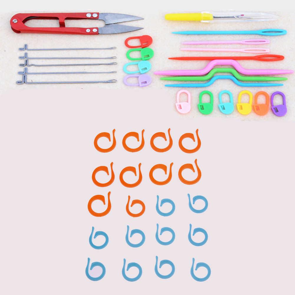 1 комплект ABS пластиковые вязаные спицы для вязания крючком пластиковые маркерная игла для вязания крючком