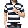 2016 Summer Men's Clothes Men Brand Cotton Short Sleeve Striped Slim Fit Polo Shirt Men Polos Male Casual Polo Shirts #1182