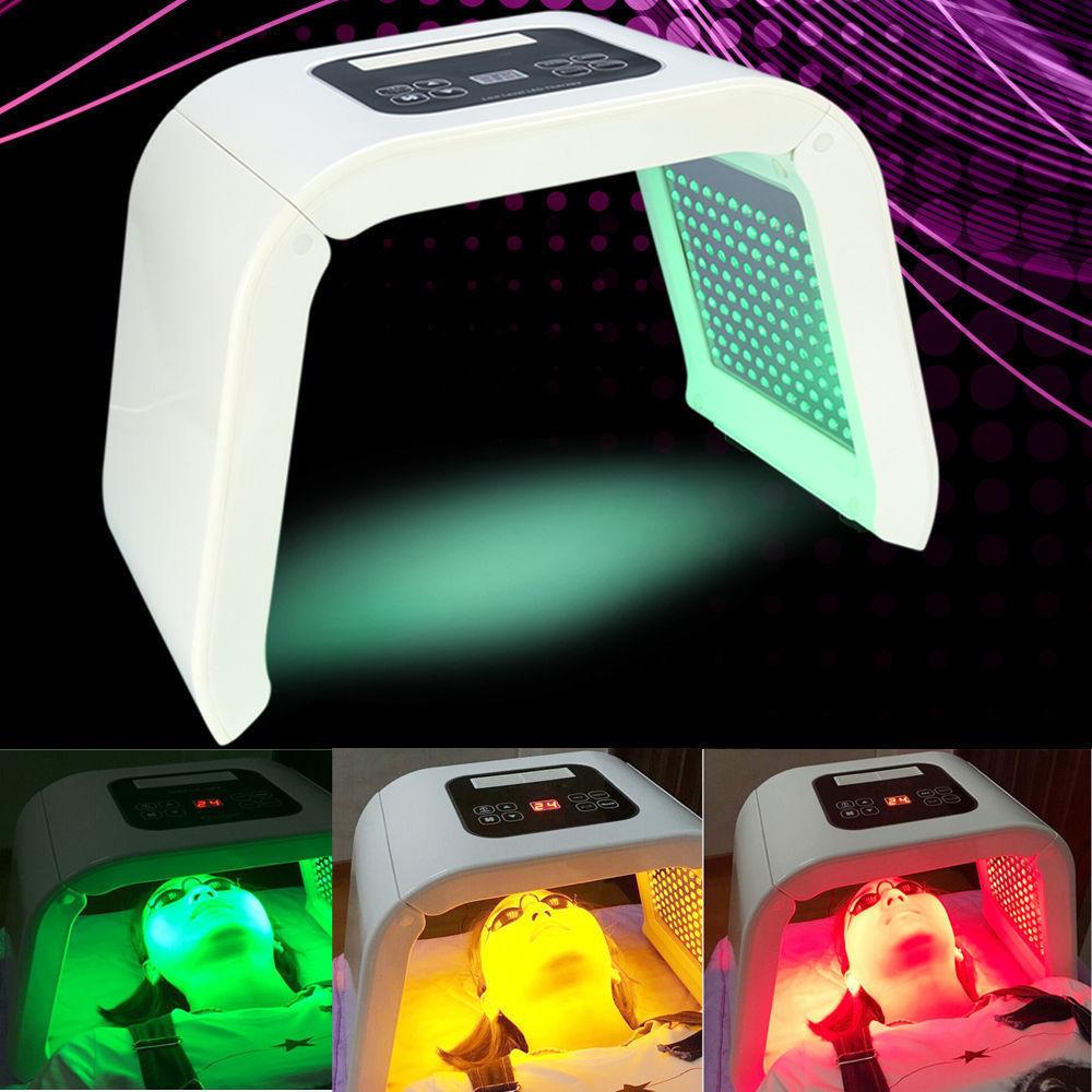Фотонная машина для омоложения кожи, 4 цвета, светодиодная лампа PDT для омоложения кожи, удаления акне, против морщин, тела лица