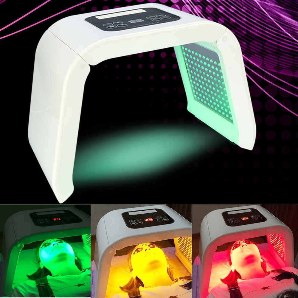 4 renk PDT LED lambalı cilt bakımı gençleştirme foton makinesi cilt gençleştirme akne sökücü anti-kırışıklık yüz vücut