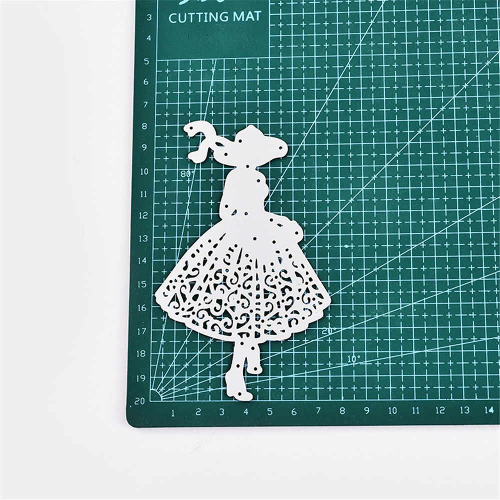 2018 חדש שמלת בנות DIY מתכת חיתוך מת שבלונות רעיונות הבלטות עבור כרטיס מתנות DIY מלאכות אלבום תמונות דקור מת לחתוך