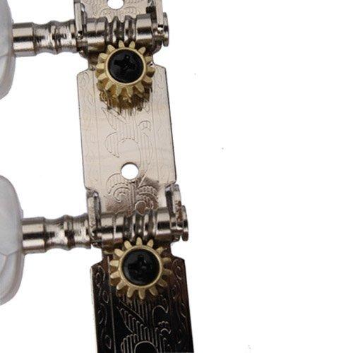 Sprzedaż hurtowa 5X SYDS 6 sztuk gitara klasyczna kołki do tuningu głowice maszyn owalny przycisk