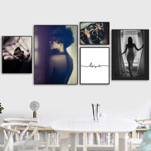 Girl Butterfly Love Quotes Distressed Wall Art Canvas Painting Nordic Posters And Prints Pictures For Living Room Decor