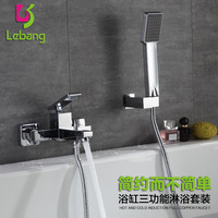 copper hanging duplex bath shower hot and cold shower set pressure side body bath crock bibcock flower is aspersed suit
