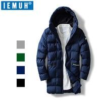 IEMUH 2018 Winter Jacket Men Cotton Coat Parkas Male Jacket Thickened Warm Hooded Thick Down Parkas Snow Windbreaker Overcoat