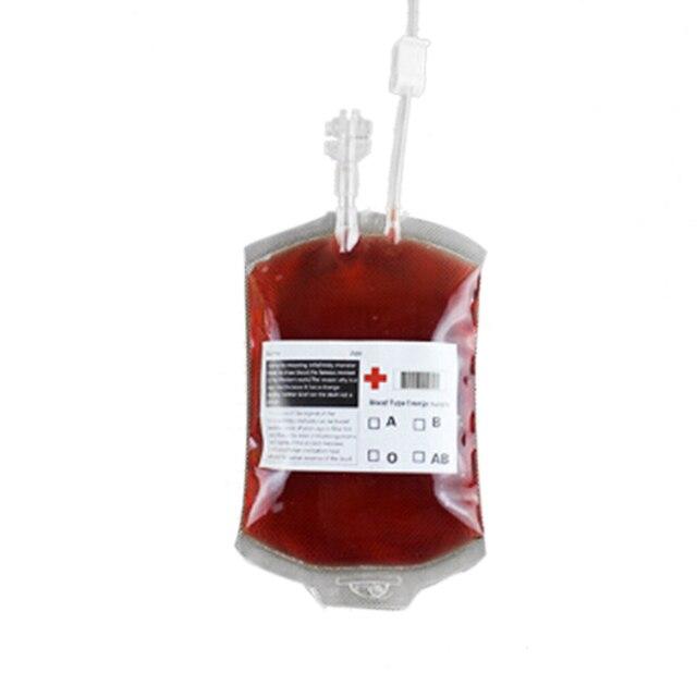 5 pcs Jelas Food Grade PVC Bahan Reusable Tas Minuman Energi mengerikan Halloween Alat Peraga Kantong Darah Vampire