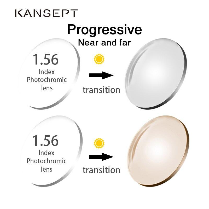 KANSEPT 1 56 Index Photochromic Grey Brown Aspheric Prescription Brand Resin Lenses Anti UV Oil Water
