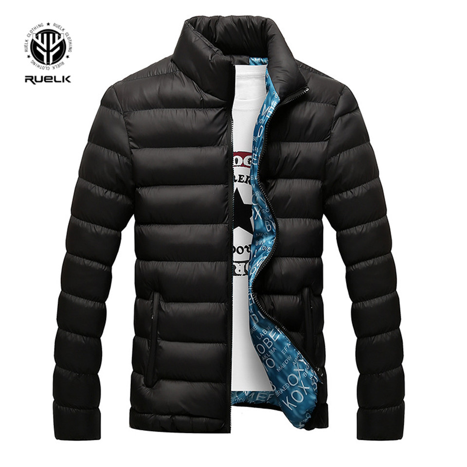 Image 2 - RUELK Winter Jacket Men 2019 Fashion Stand Collar Male Parka Jacket Mens Solid Thick Jackets and Coats Man Winter Parkas M 6XL-in Parkas from Men's Clothing