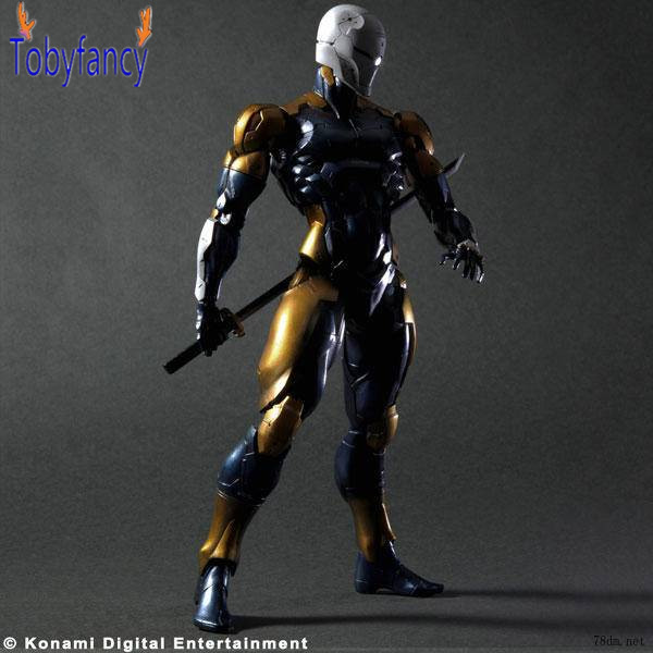 Metal Gear Solid Play Arts Kai Solidus Snake Gray Fox Cyborg Ninja 26cm PVC Action Figure Doll Toy Playarts K metal gear solid v the phantom pain play arts flaming man action figure super hero