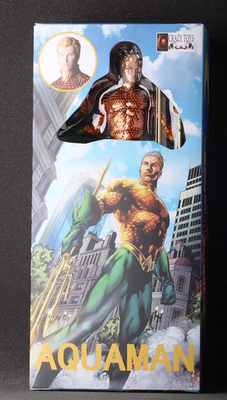 ФОТО New DC Comic Justice League Super Hero Aquaman Orin/Arthur Curry Crazy Toys 25CM Action Figure Collection
