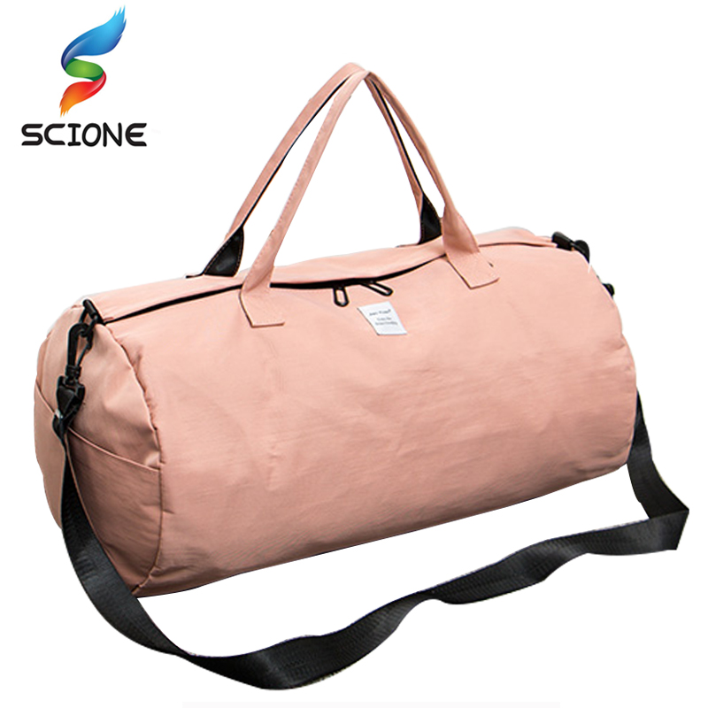Solid Colors Sports Gym Bags Outdoor Waterproof Portable Training Shoulder Bag Men Women Travel handbag Yoga sac de sport bags
