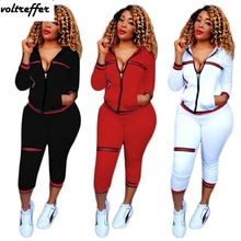 Striped Print Two Piece Set Women Moleton Feminino Casual Outfits Hoody Cardigan Pants Suits Ensemble Femme Sweatsuit Set 2018