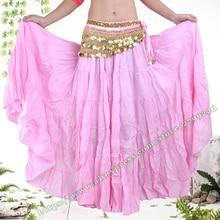 a3cef3ea0ba 2018 Gypsy Bohemia BOHO Full Circle Linen Cotton Belly Dance Pink Black  Spain Female Pleated Long