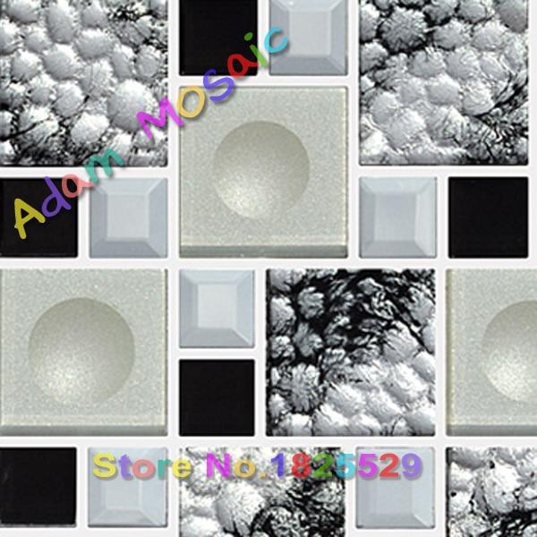 Wunderbar Schwarz Weiß Bad Wandfliese 3D Penny Runde Mosaik Fliesen Muster Glasmosaik Küche  Backsplash Fliesen Spiegel