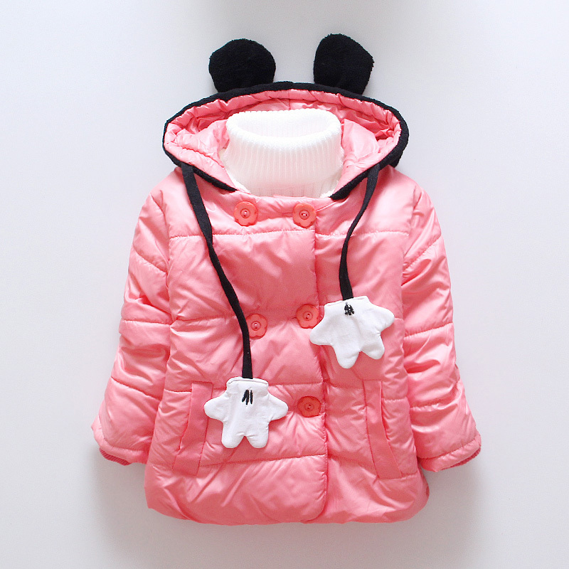 New Baby Girls Coat Winter Outerwear Children Jackets Cotton Kids Coat Double Breasted Hooded Coats Baby Clothing for 2-5Y 2017 winter baby coat kids warm cotton outerwear coats baby clothes infants children outdoors sleeping bag zl910