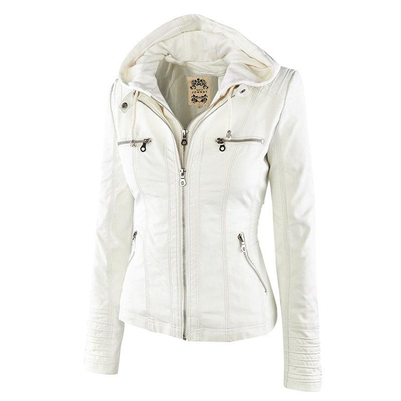 HTB15h0Sa7L0gK0jSZFAq6AA9pXaf Faux Leather Jacket Women 2021 Basic Jacket Coat Female Winter Motorcycle Jacket Faux Leather Suede PU Zipper Hoodies Outerwear