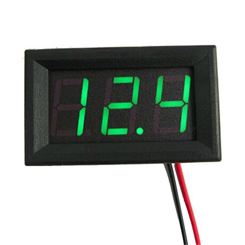 Mini két vezetékes digitális voltmérő piros LED kijelző DC0 ~ - Mérőműszerek - Fénykép 3