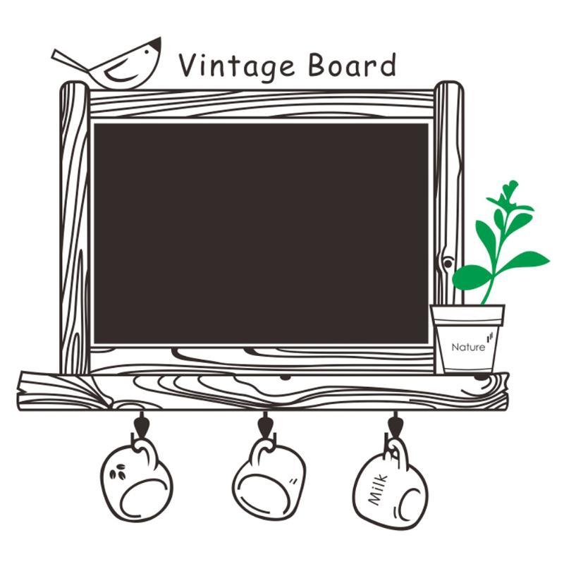 Vintage Chalkboard Blackboard Sticker Kids Room Removable Drawing Picture Wall Poster Black Board Decals Office School Supplies