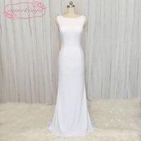 SuperKimJo Backless Mermaid White Bridesmaid Dresses For Weddings Vestidos De Madrinha Sexy Wedding Party Dresses