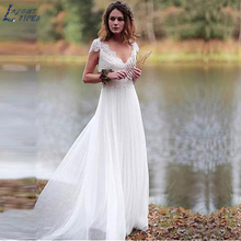 LAYOUT NICEB Backless Wedding Dresses A-line Cap Sleeves