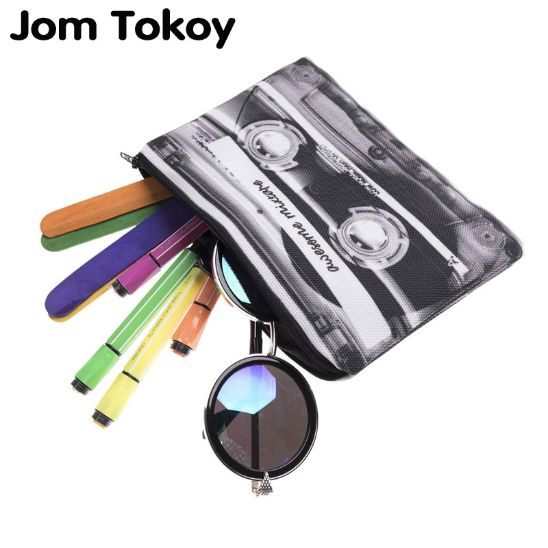Jom Tokoy 3D Printing Pencil bags cosmetic bag 2017 cosmetiquera makeup bag trousse de maquillage neceser organizer pencil case