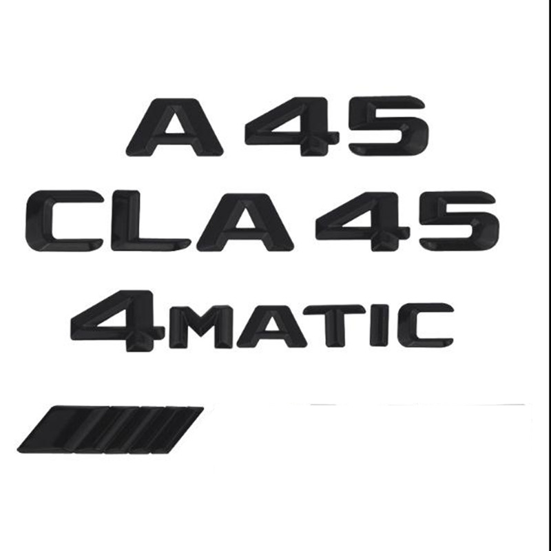 1 шт. 3D ABS Матовый Черный ABS CLA 45 Автомобильный багажник задние буквы значок эмблема логотип наклейка для Mercedes Benz AMG эмблема класс 4matic