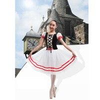 Flames Of Paris Ballet Long Tutu Dress White Blue Red Romantic Ballet Tutu Ballerina Stage Costume For Women Or Kids