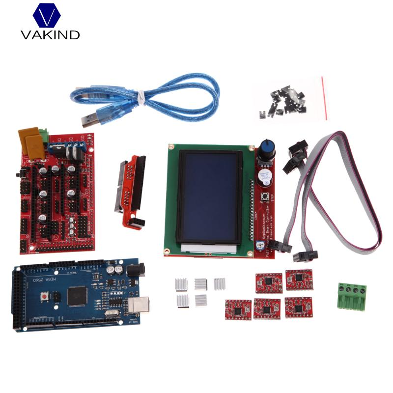 3D Printer Kit , RAMPS 1.4 MEGA2560 A4988 LCD 12864 Controller Board for 3D Printer RepRap купить