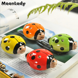 Colorful Porcelain Ladybug Ocarina 6 Holes Wind Musical Instrument for Music Amateurs and Beginners Children's Toy and Gifts